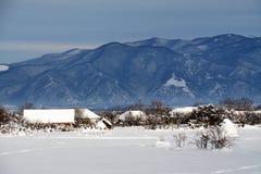 抽象横向冬天 免版税图库摄影