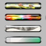 抽象横幅颜色水平线 免版税库存图片