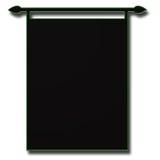 抽象横幅黑色 免版税库存照片