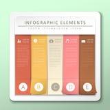 抽象横幅infographics 库存照片