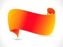 抽象橙色丝带向量 图库摄影