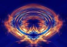 抽象橙色光爆炸 库存照片