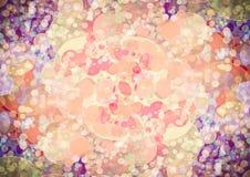 抽象橙色桃红色紫色颜色bokeh墙纸 库存图片