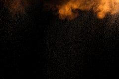抽象橙色油漆Holi 免版税库存照片