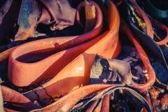 抽象橙色海草 库存照片