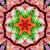 抽象橙色特征模式背景纹理 免版税库存照片