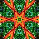抽象橙色特征模式背景纹理 免版税库存图片