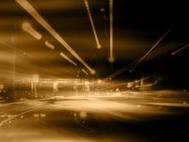 抽象橙色街道 库存照片