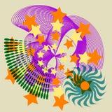 抽象欢乐星形瓦片 库存图片