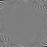 抽象欧普艺术设计 扭力运动幻觉  免版税库存照片