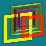 抽象正方形 免版税图库摄影