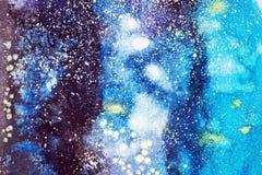 抽象水彩手画例证 五颜六色的污点构造背景 皇族释放例证