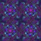 抽象水彩样式 蓝色和桃红色花 向量例证