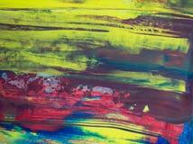 抽象水彩背景,手画刷子冲程 免版税库存图片