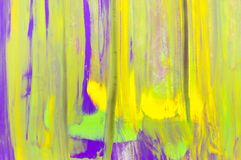 抽象水彩背景,手画刷子冲程 库存图片