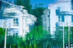 抽象水房子反射 库存图片