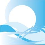抽象水色设计 免版税库存照片
