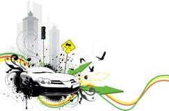 抽象汽车例证 免版税库存图片