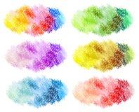 抽象油柔和的淡色彩被绘的背景 免版税库存图片