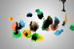 抽象油漆下落和一滴 免版税库存照片