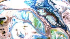 抽象油漆墨水被传播的任意运动 股票录像