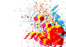 抽象油漆颜色和泼溅物颜色背景 库存图片