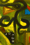 抽象油画 免版税图库摄影