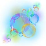 抽象泡影向量背景 图库摄影