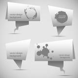 抽象泡影origami演讲 免版税库存照片