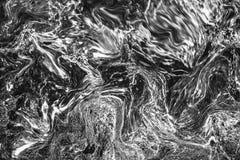 抽象波动图式,深灰大理石墨水纹理背景f 免版税图库摄影