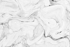 抽象波动图式,白色灰色大理石墨水纹理背景 免版税图库摄影