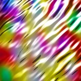 抽象波浪光滑的五颜六色的发光的金属背景 库存照片