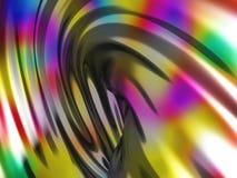 抽象波浪光滑的五颜六色的发光的金属背景 免版税库存照片