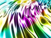 抽象波浪光滑的五颜六色的发光的金属背景 免版税图库摄影