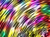 抽象波浪光滑的五颜六色的发光的金属背景 免版税库存图片