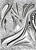 抽象波浪和离婚 库存照片