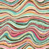 抽象波浪无缝的样式 免版税库存照片