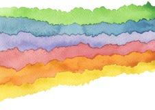 抽象波浪水彩绘了背景 o : 图库摄影