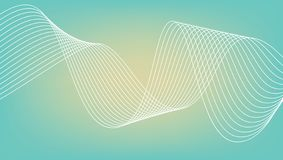 抽象波浪线传染媒介  皇族释放例证