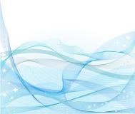 抽象波浪背景蓝色的向量 免版税库存照片