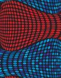 抽象波浪背景蓝色的设计 库存照片