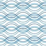 抽象波浪背景,无缝的样式 库存图片