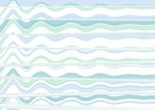抽象波浪蓝色墙纸 免版税图库摄影