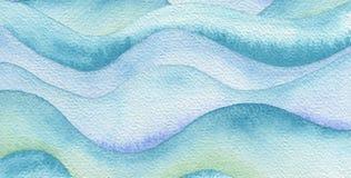 抽象波浪水彩被绘的背景 纸纹理 向量例证
