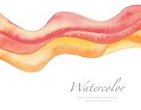 抽象波浪水彩被绘的背景 免版税库存照片