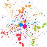 抽象泼溅物多颜色背景 例证d 图库摄影
