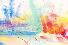 抽象泼溅物水彩背景 免版税库存图片