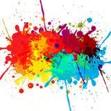 抽象泼溅物颜色设计背景 例证d 免版税库存图片