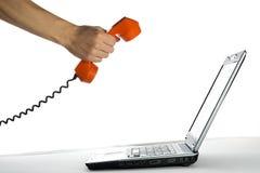 抽象活动桔子电话 免版税库存图片