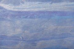 抽象派背景水军蓝色和银色颜色 在帆布的多色绘画 艺术品的片段 纹理背景 免版税库存照片